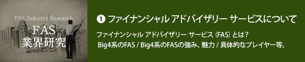 ファイナンシャル アドバイザリー サービス(FAS)について